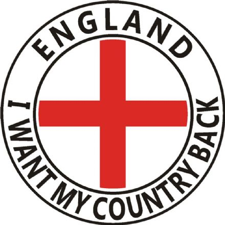 England  Lorry Sticker - I Want My Country Back